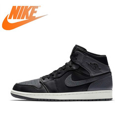 Original Authentic Nike Air Jordan 1 Mid AJ1 Men's Basketball Shoes Sports Shoes Outdoor Classic Fashion Ventilation 554724-041