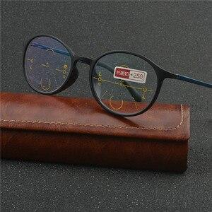 Image 4 - Thời Trang Nam Nữ Vòng Khung Tiến Bộ Multifocal Ống Kính Retro Mặt Trời Photochromic Mắt Ngoài Trời Kính Mát UV400 NX