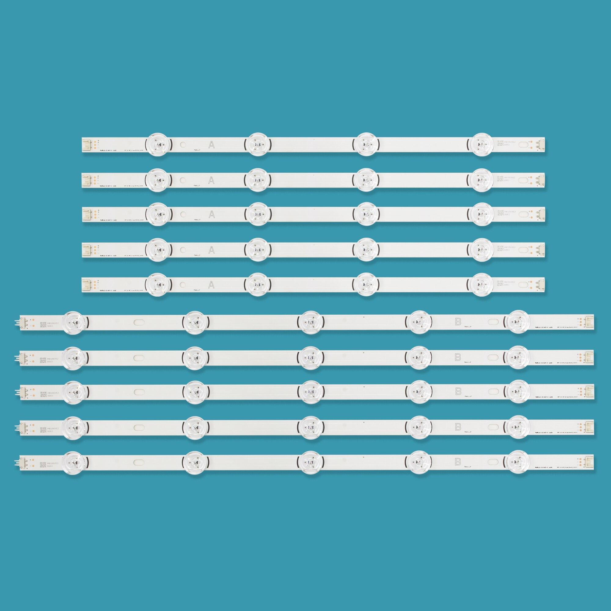 New 10 PCS/set LED Strip Replacement For LG 49LB580V 49LB5500 Innotek DRT 3.0 49 A B 6916L-1788A 6916L-1789A 6916L-1944A 1945A