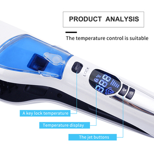 Image 5 - LCD Hair Steam Straightener Electric Brush Hair Hair Flat Iron Vapor Plate Led Ferro Dry & Wet Hair Iron Steampod Styling Tool