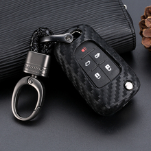 1pcs Key Shell Accessories Car-Styling Auto Carbon Fiber Protect Cover Case For Chevrolet Cruze Vauxhall Buick Insignia
