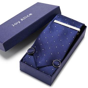 New Stripe Paisley Neck Tie Red Blue Gravatas Hanky Cufflinks&clip tie set  for Men Fashion Floral Necktie Corbata floral embroidered tie detail stripe dress