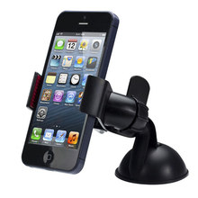 360 Rotation Silicone Suction Cup Car Phone Holder Mini Mobile Phone Holder for iphone Redmi GPS(China)