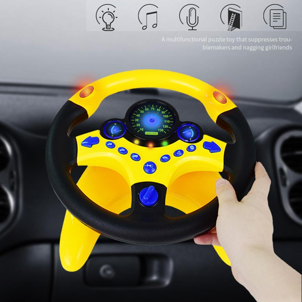 Children Steering Wheel with Light Sound Simulation Driving Education Toy Toddler Early Cognition Toys Gift