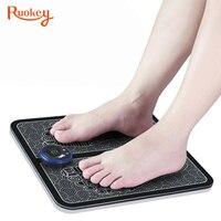 Masajeador eléctrico EMS para pies, Estimulador muscular inalámbrico para pies, fisioterapia, pedicura, masaje vibratorio para pies