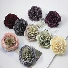 2 uds Vintage flor peonía de seda pared flores de boda accesorios de novia falsos diy giftx fiesta decoración artificial para el hogar flor ZM