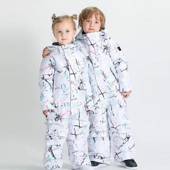 W wieku 3-6 lat dzieci jednoczęściowy kombinezon narciarski chłopcy dziewczęta zestaw snowboardowy dzieci śnieg deska spodnie kurtka zestaw dzieci zima śnieg ubrania tanie i dobre opinie NoEnName_Null Pasuje prawda na wymiar weź swój normalny rozmiar CN (pochodzenie) Floral Anti-shrink NYLON 10000