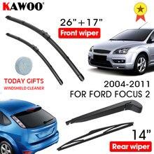 KAWOO – balai d'essuie-glace avant et arrière, pour Ford Focus 2 Hatchback, 2004 – 2011, accessoires de voiture