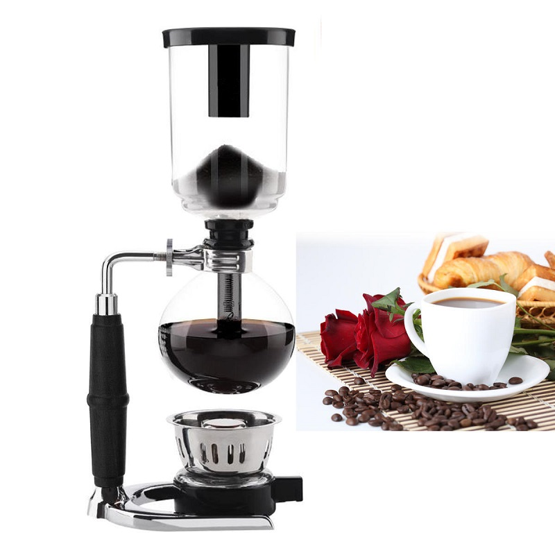 Siphon Coffee Pot Home Cooking Cold Drip Coffee Maker Set Glassware Coffee Machine For 3 Cups