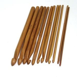 Image 5 - 12 adet bambu tığ kanca seti DIY örme İğneler kolu ev örgü örgü ipliği el sanatları ev örgü araçları