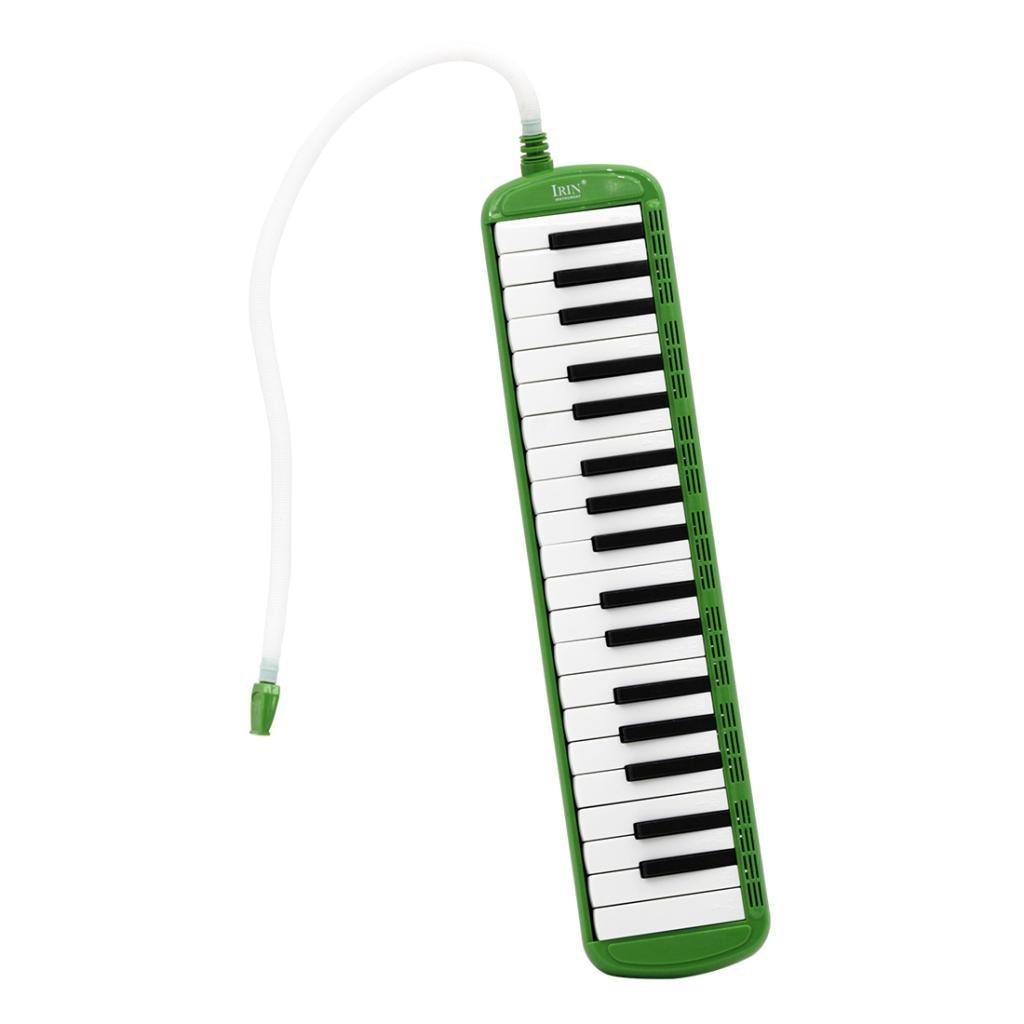 Прочный Пластик 32/37 фортепианные клавиши Мелодия Длинная зеленая трубка и мундштук для детей Детские мелодии Pianica музыкальный инструмент