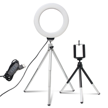 6inch YouTube LED Desktop Ring Light Mini Dimmable With Tripod Stand USB Plug For Video Live Photo Photography Studio