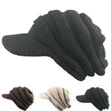 Вязаная шапка с полями, теплая зимняя женская шапка с полями, большая эластичность, модное украшения для вечеринок, морозостойкая шерстяная шапка в стиле хип-хоп