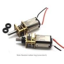 цена на Motor DC 3V 6V Gear 210rpm 435rpm Mini Electric Motor Reducer 6 V Volt Micro Metal Motors DC N20 for DIY Robot Models Toy cars