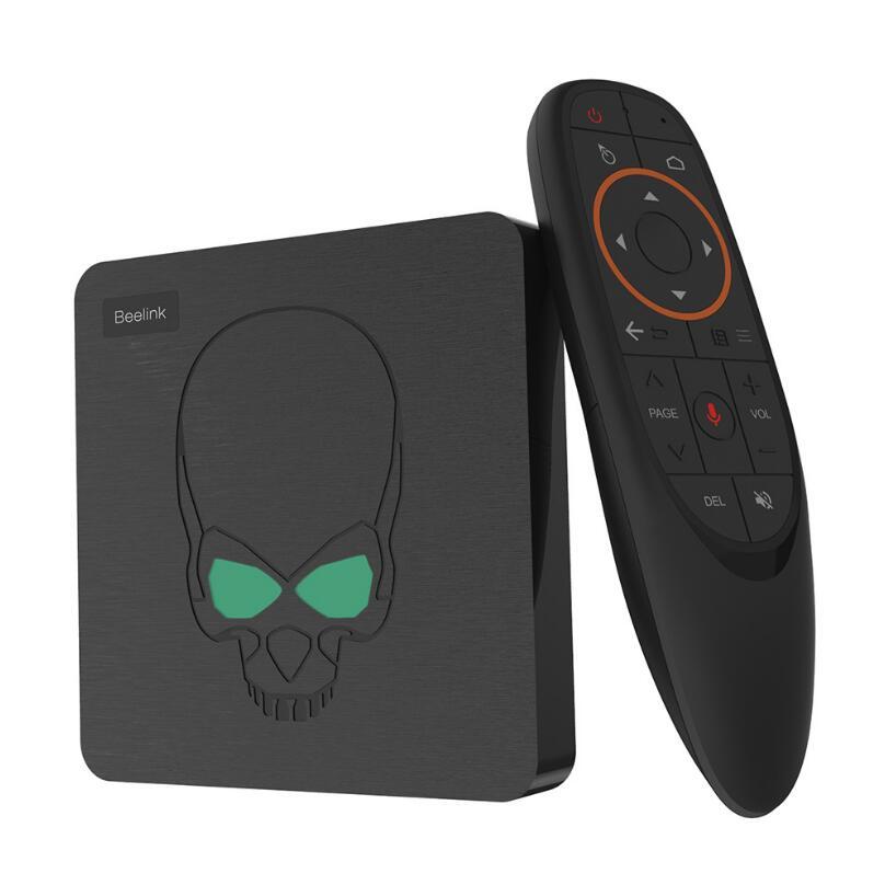 Nouveau boîtier TV crâne gt-king Amlogic S922X 4G RAM 64G ROM Smart TV BOX 2.4G + 5G double WIFI 1000M LAN avec décodeur 4K