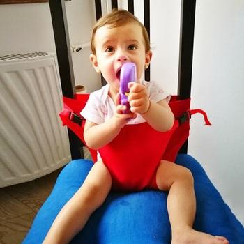 Fotelik krzesełko dla dziecka pas bezpieczeństwa przenośne siedzisko obiad na fotel folia stretch krzesełko do karmienia szelki tanie i dobre opinie 7-36 miesięcy Z tworzywa sztucznego Stałe