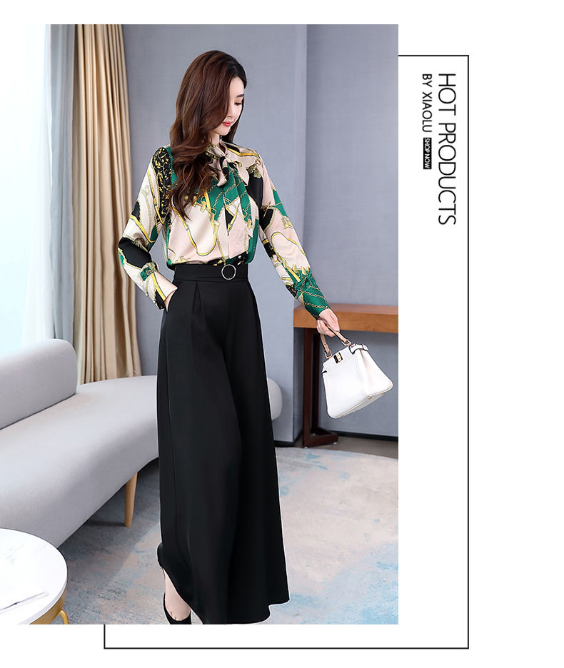 H4914fd25fe924883afa6649ef0eeb53eI - Summer Two Piece Set OL Women Sets Plus Size Two Piece Set Top And Pants Wide Leg Pants Woman Tracksuit /outfit/suit/Set 2 Piece