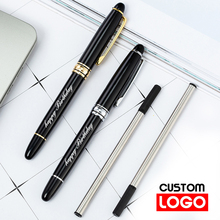 Metal Ballpoint Pen Custom Logo Advertising Business Signature Pen School&office Supplies Lettering Engraved Name настенный светодиодный светильник lightstar fuime led 810636