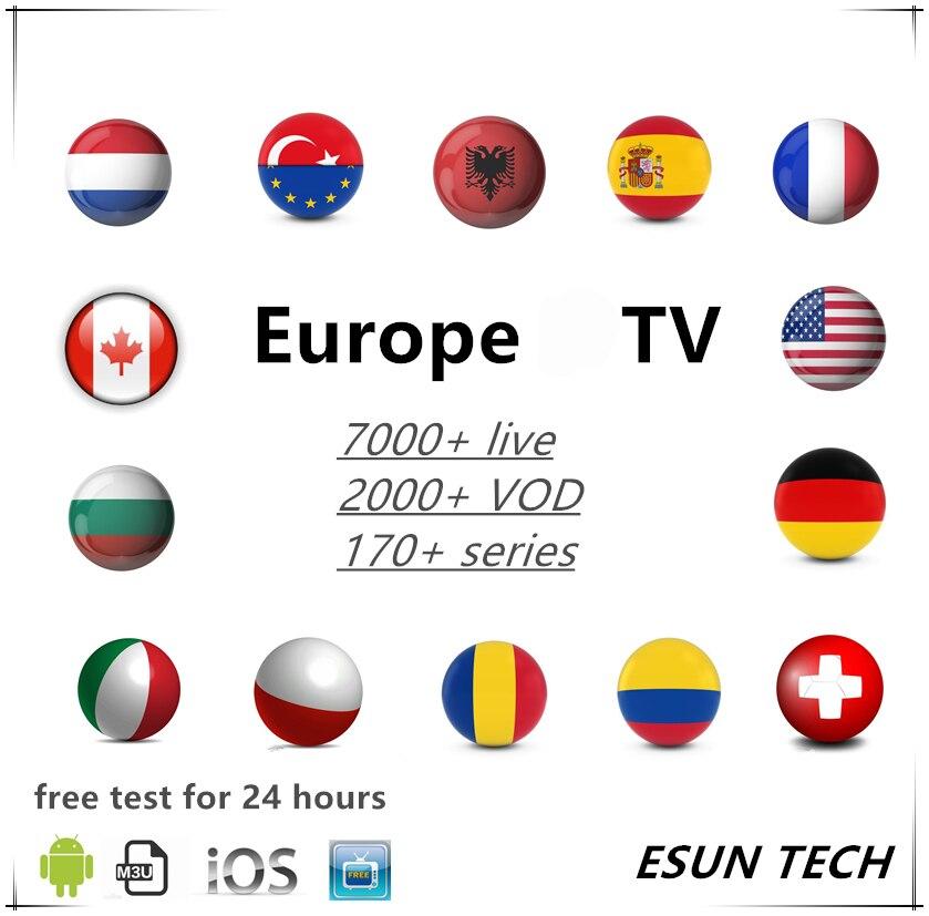 French IPTV Arabic Dutch  Android M3u Player Smarters ESUN Premium Server Abonnement