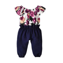 Baby Romper Pretty Toddler Girls Ruffled Sleeve Floral Jumpsuit With Belt Baby Girl Clothes pretty girls