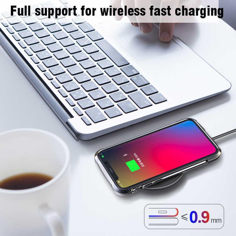 Custodia in Pelle Ultra Sottile per Il Iphone 11 Pro Max X Xr Xs Max Copertura Molle di Caso di Tpu per Il Iphone 11 pro Max 2019