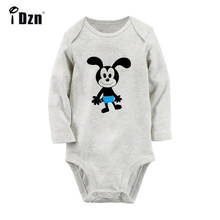 Cartoon Oswald the Lucky Rabbit Duck Newborn Baby Bodysuit Toddler Long Sleeve Onesies Jumpsuit Clothes Christmas Gift(China)