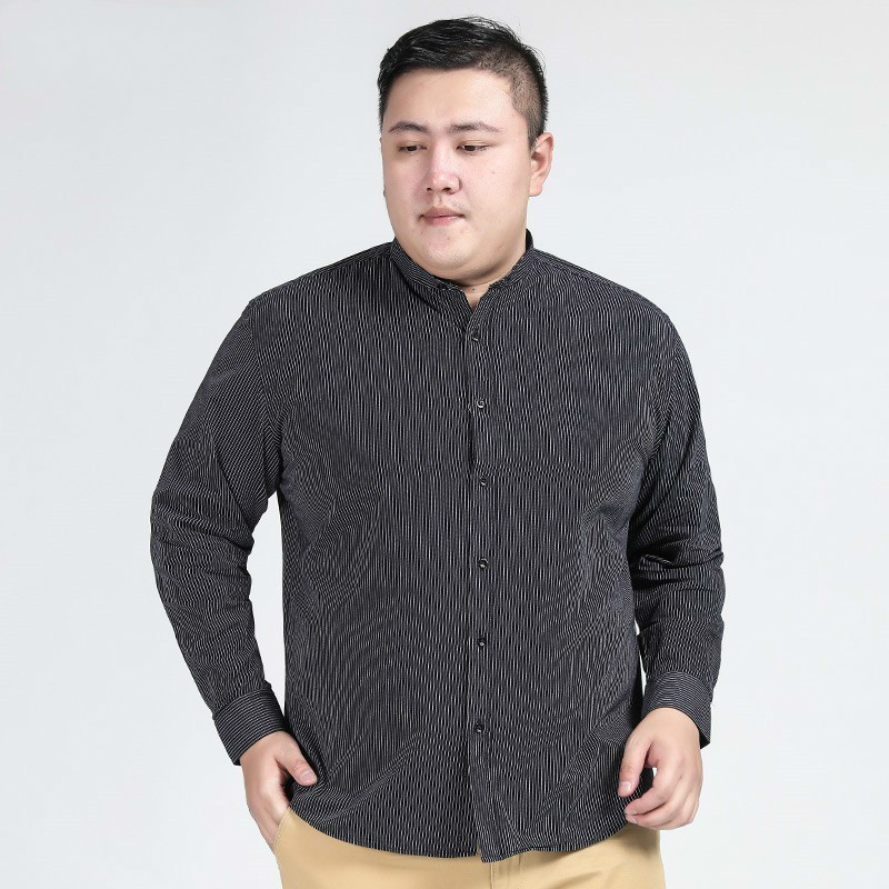 Plus Size 8xl 7xl 6xl 5xl New Autumn Fashion Brand Men Clothes Men Long Sleeve Shirt Men Stripe Cotton Casual Men Shirt Social