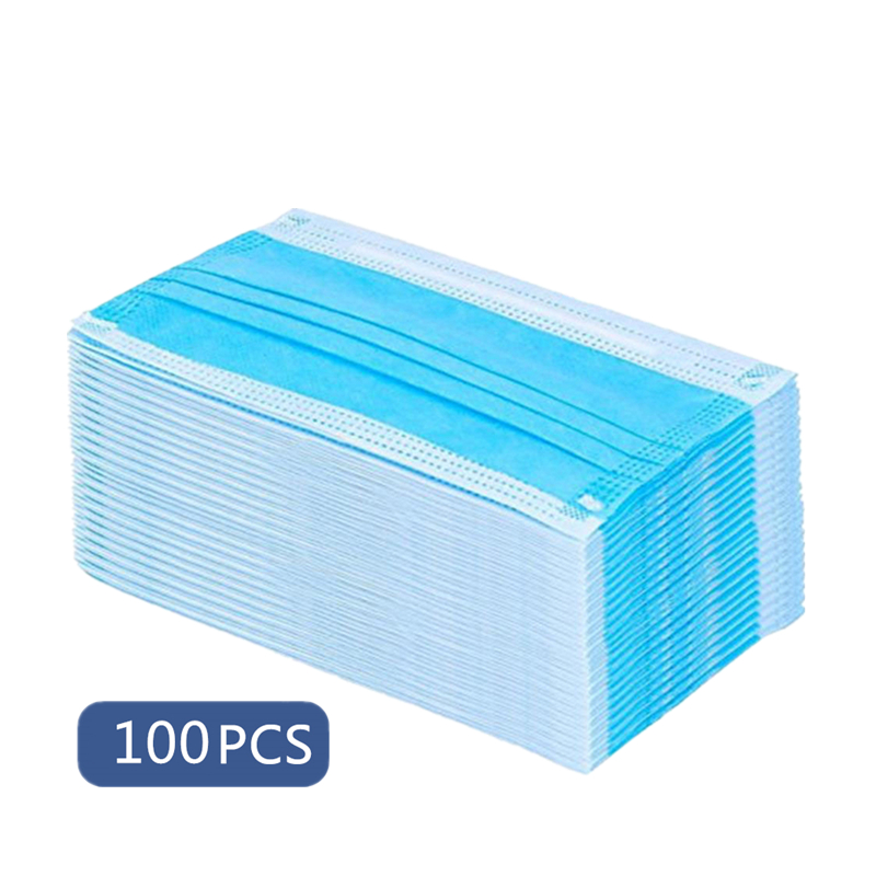 50/100pcs Disposable Anti-dust Safe Breathable Mouth Mask Dental Face Mask PM2.5 Nonwoven Elastic Bacterial Proof Hygiene Masks