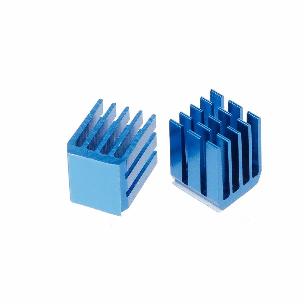 10Pcs Blue Aluminum Heatsink Stepper Motor Drive Special Cooling Heat Sink For TMC2100 For 3D Printers Printing Parts Au06 19
