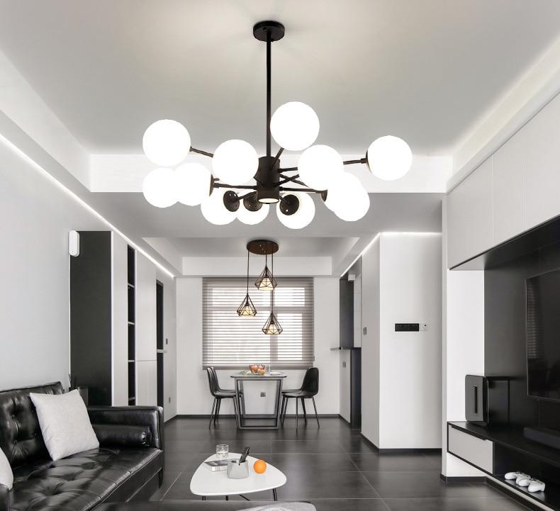 Скандинавские лампы для гостиной, современные, спальня, ресторан, атмосферное стекло, молекулярная творческая личность, Волшебная люстра|Подвесные светильники|   | АлиЭкспресс