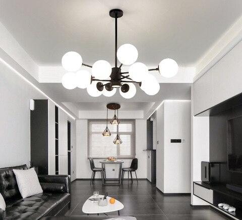 nordic lampadas sala de estar lampada quarto moderno restaurante vidro atmosferico molecular personalidade criativa feijao