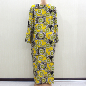 Image 2 - 2020 Fashion Design New Arrival African O Neck Long Sleeve Long Dress Women Spring Dresses Casaul Elegant Women Dress