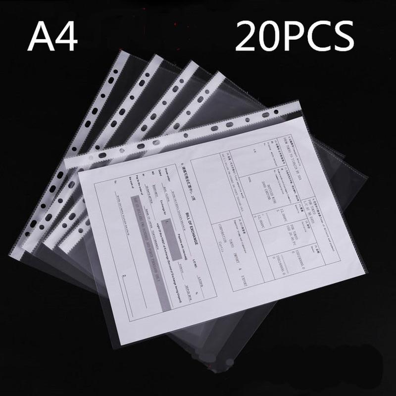 A4 file protection bag office supplies 11 hole file bag thick 4C transparent loose-leaf bag