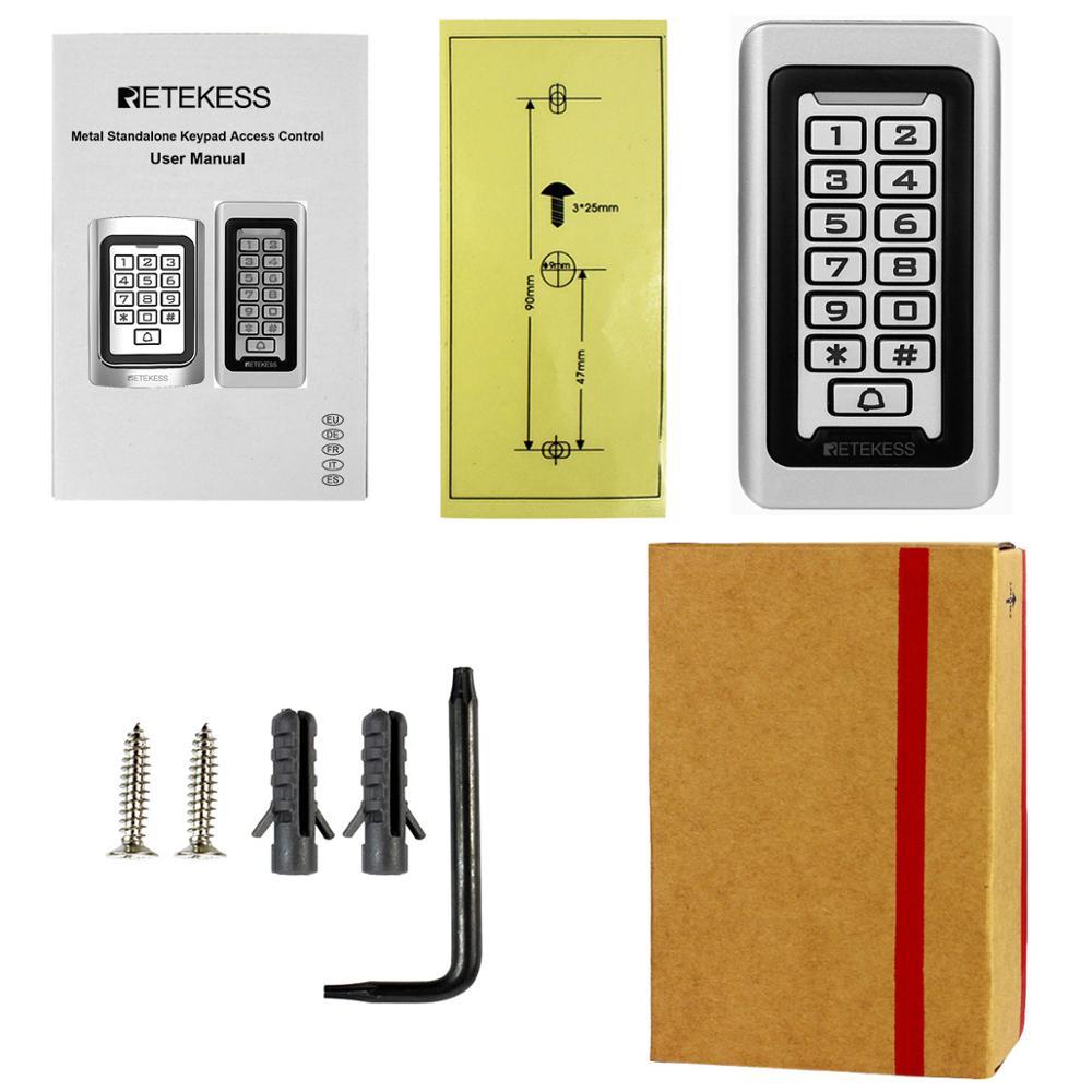 Retekess T-AC03 Tastatur RFID Access Control System Proximity Karte Alone 2000 Benutzer Tür Access Control Wasserdichte Metall Fall
