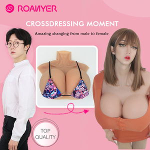 Image 4 - Roanyer Realistic Fake Boobs Artificial Silicone Breast Form for Crossdresser transgender Shemale drag queen B C D E F G H Cup