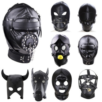 PU Leather Fetish Hood Headgear Sex Toys for Women BDSM Bondage Sex Mask bdsm Toys Adult Games Sex Product For Adults