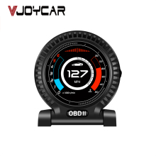 Vjoycar V10 Auto Hud Boordcomputer OBD2 Gauge Lcd-scherm Digitale Kilometerteller Turbo Boost Druk Rpm Snelheid Klok water Temp.