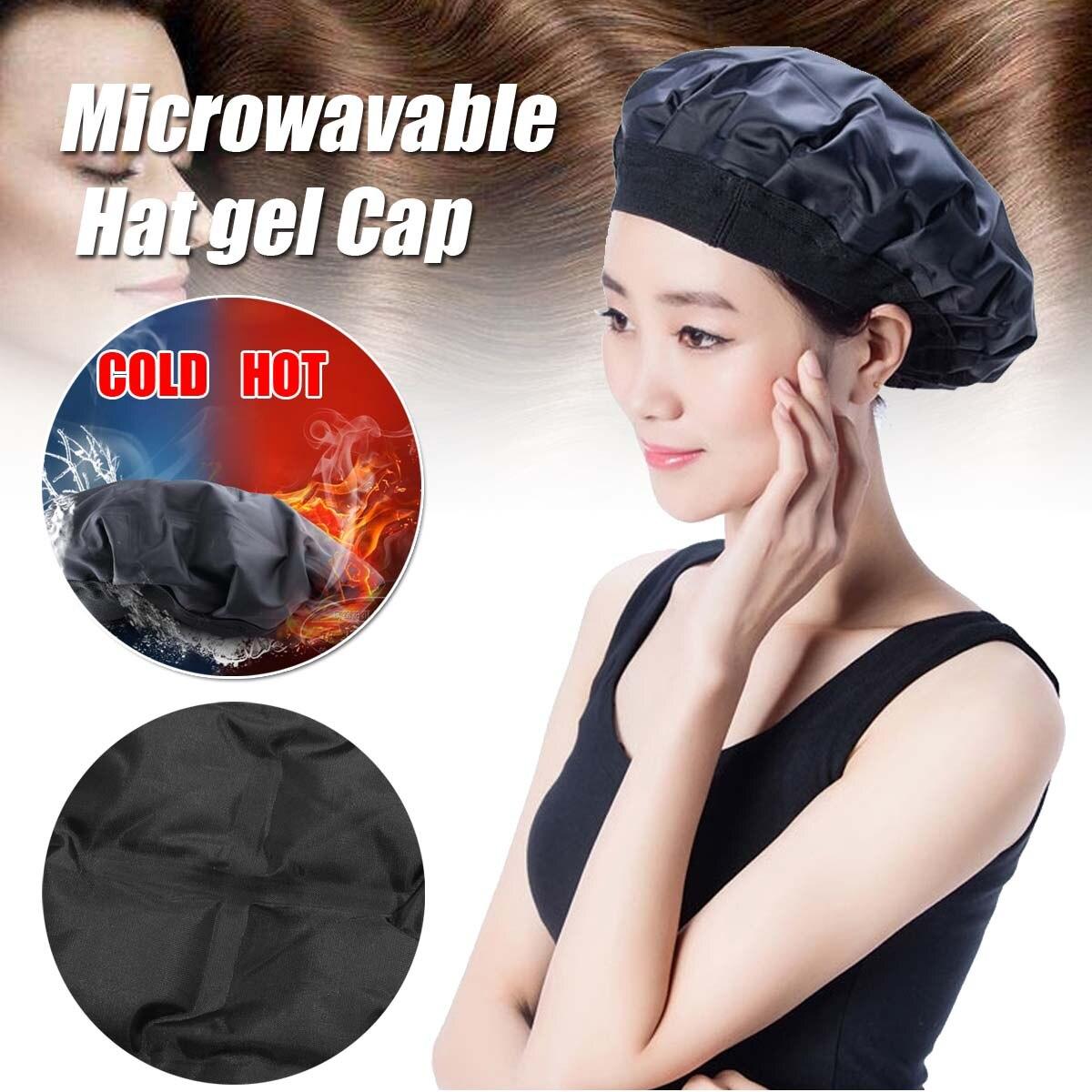 Cuidado do Cabelo Chapéu de Refrigeração Tratamento de Condicionamento Cabelo Máscara Chapéu Aquecimento Microwavable Gel Profundo Fumegante Calor Dupla Utilização Tampas Spz Cap