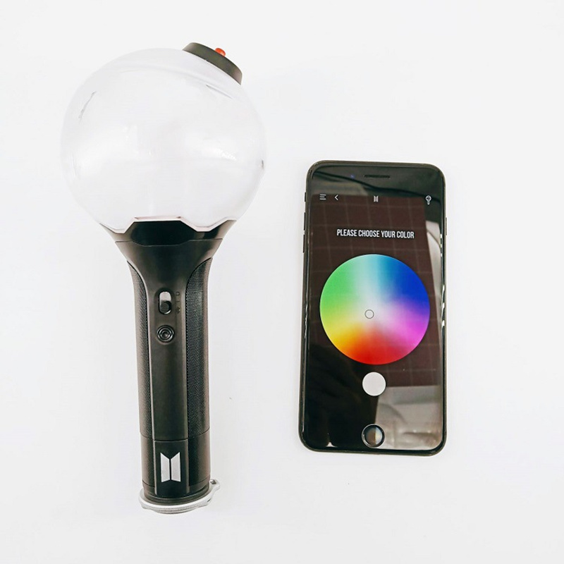 New Army Bomb Official Fanlight 3.0 Lightstick Bluetooth App Change Color Light Stick Kpop Gift