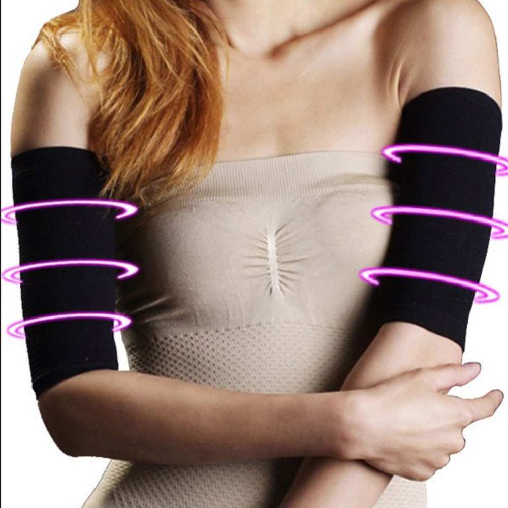 2 PCS Arm Sleeves Sports Fat Buster Weight Loss Warmer Arms Sleeve Arm Girdle Slimming Sleeve Body Shaper Shapewear Massage Unis