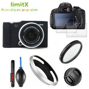 Image 3 - 보호 키트 화면 보호기 카메라 케이스 가방 uv 필터 금속 렌즈 후드 fujifilm X A7 xa7 카메라 15 45mm 렌즈
