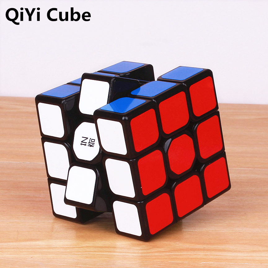 QiYi Sail W 3x3 Magic Cubes Stickerless Warrior S Professional Speed Cube Puzzles Cubes Montessori Educational Toy For Kid