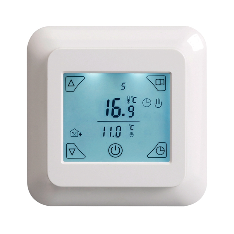 HLZS-Touch Screen Thermostat Electric Thermostat Room Thermostat Underfloor Heating Programmable Thermostat 16A V8.716