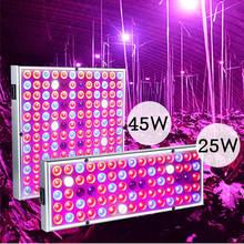 25 W/45 W LED 식물 성장 패널 빛 씨앗 cultivo 성장 Phyto 램프 실내 온실 growbox 룸 야채 텐트에 대 한 UV IR 키트