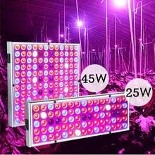25W/45W LED rośliny rosną Panel oświetleniowy cultivo rosnąca lampa fito UV IR zestaw do kryty cieplarnianych growbox pokój warzyw namiot