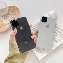 Plain Transparent Phone Case For iPhone 11 Pro Max XR X XS 8 7 Plus Soft TPU Clear Simple Back Cover Fundas