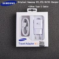 Samsung-cargador rápido Original, adaptador de viaje rápido de 9V/1,67a, 120cm, Cable tipo C para Galaxy S10, S8, S9 Plus, Note 8, 9, A30, A50, A70 S