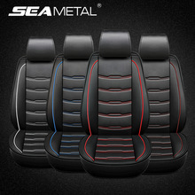 Car Seat Covers Set Four Seasons Universal Fit for 5/7 Seats Surrounded Waterproof PU Leather Automobiles Seat Covers Protector