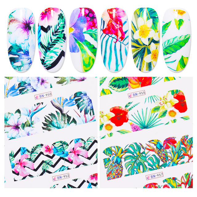1 PC Nail Water Stickers Transfer