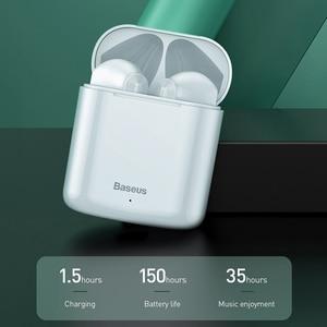 Image 3 - Baseus Bluetooth אוזניות W09 TWS Bluetooth 5.0 אוזניות אלחוטי דיבורית אוזניות סטריאו HD מדבר Auriculares Bluetooth